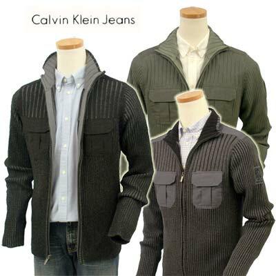 Calvin Klein Jeans カルバンクラインミリタリー フルジップセーター