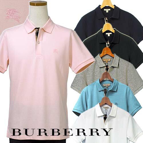 BURBERRYバーバリーMen's半袖鹿の子ポロシャツBURBERRY BRIT英国 直輸入商品#395...