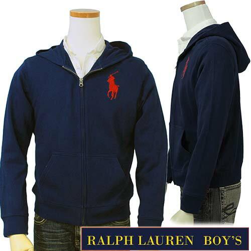 POLO by Ralph Lauren Boy's定番ビッグポニー フルジップパーカーラル...