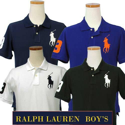 POLO by Ralph LaurenラルフローレンBoy's定番、ビッグポニー半袖鹿の子ポロシャツ【2017-Spring/N...