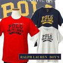 【全商品10%OFFクーポン】POLO by Ralph Lauren Boy'sPOLOロゴ ビンテージプリント半袖Tシャツ【2017-Spring/NewModel】【ラルフローレンボーイズ】