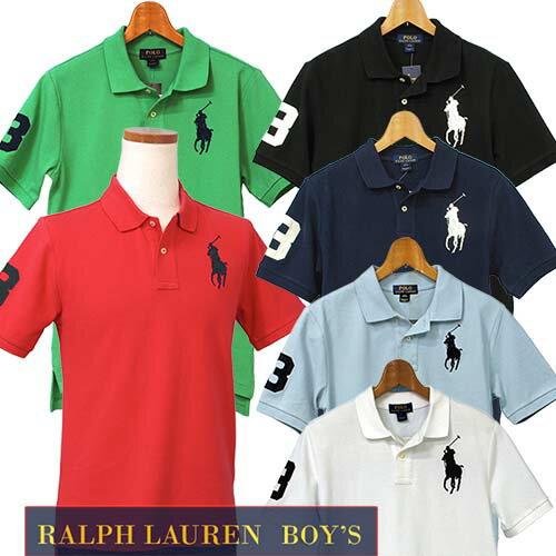 POLO by Ralph Lauren Boy'sビッグポニー 半袖 鹿の子 ポロシャツ【201...