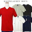 POLO by Ralph Lauren Boy's 定番Vネック ポイント半袖Tシャツポロ ラルフローレン Tシャツ