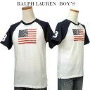 【全商品10%OFFクーポン】POLO by Ralph Lauren Boy's USフラッグ ヘンリーネック半袖ベースボールTシャツ【2018-Summer/NewColor】ラルフローレン ビッグポニーTシャツ