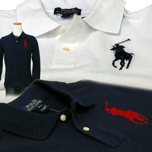 POLO by Ralph Lauren Boy's定番 ビッグポニー 長袖 鹿の子ポロシャツ