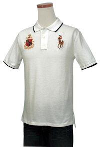 ビッグポニーエンブレム刺繍半袖鹿の子ポロシャツ