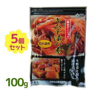 【送料無料】 奈良つけもん屋の キムチ漬の素 100g×5個セット 調合ヤンニョム 漬物 粉末タイプ