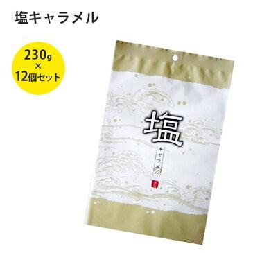 【送料無料】 日邦製菓 塩キャラメル 230g×12袋セット 個包装 おやつ お菓子