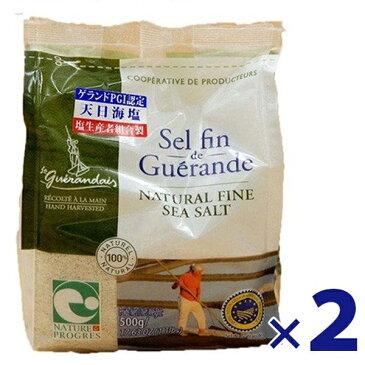 【送料無料】 ゲランドの塩 セルファン 500g×2袋セット 細粒塩 ビニール袋入り フランス