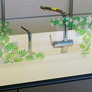 アクリル板キッチン水はね防止アクリルボードお花(白)60cm