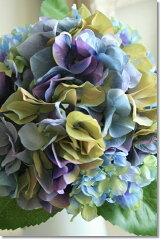 造花(アジサイ ハイドランジア)インテリアグリーン 観葉植物 フェイクグリーン【造花 リラハイドレンジア(ブルー) 】