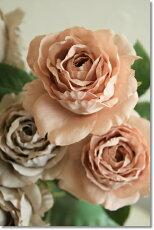 造花(バラ)ピンクインテリアグリーン観葉植物フェイクグリーン【造花エクリュプリマローズ(アンティークピンク)】