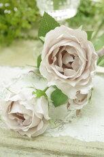 造花(バラ)インテリアグリーン観葉植物フェイクグリーン【造花アリアーナローズ(アンティークライラック)】