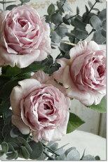 造花(バラ)ピンクインテリアグリーン観葉植物フェイクグリーン【造花エクリュプリマローズ(ライラックモーブ)】