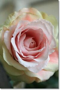 一厘挿しや雑貨に添えて。ローズ/薔薇(ピンクグリーン・1本)【造花・アートフラワー・フェイク...