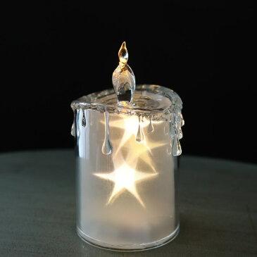 クリスマス飾り クリスマスオーナメント LEDキャンドル おしゃれ 【スター/S/Φ7.5×高さ14cm】