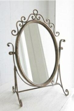 アンティーク風 雑貨 コベントガーデン メリダスタンドミラー アンティーク風鏡 巾29×奥行17.5×高さ42cm