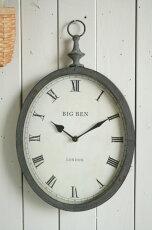 掛け時計アンティークおしゃれオーバルグレークロックコベントガーデン