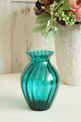 お色が綺麗!!テーブルコーディネートにお花を添えて。ビリジャン・スモールベースガラスフラワ...