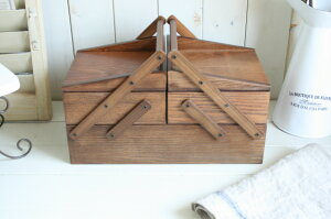 ブラン ソーイングボックス(9090-0042)/ナチュラル 裁縫箱