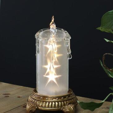 クリスマス飾り クリスマスオーナメント LEDキャンドル おしゃれ【スター/L/Φ7.5×高さ18cm】