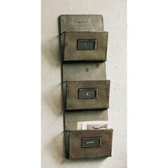 アンティーク雑貨 カードラック3/ラック ブリキ