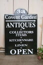 """イギリスのアンティークショップの看板をイメージ♪THE OLD FARMHOUSE サインボード """"ANTIQUE"""" ..."""