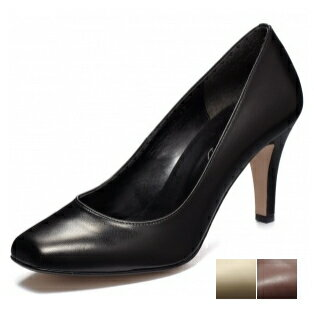 / real leather pumps / leather pumps / 8cm heel / carrier / commuting / party / made by chercher ETOILE (シェルシェエトワール) square toe pumps 1 a day book
