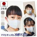 マスク 日本製 2枚 子供 キッズ のびのび素材 接触冷感 立体 男女兼用 女性 高学年 低学年 中
