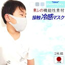 マスク 子供 東レ シェルタリングドライ 日本製 2枚 冷感マスク 接触冷感 UVカット 立体 ひんやり 冷たい 在庫あり 夏素材 夏 クール キッズ 冷感
