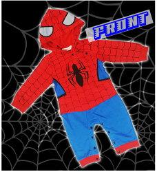 ☆【送料無料】ハロウィンに普段使いに♪超かっこいいスパイダーマン風の長袖カバーオール
