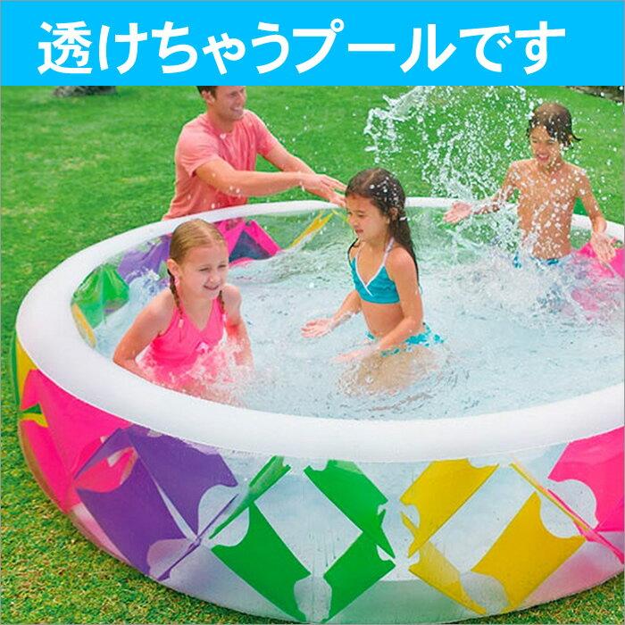 【送料無料】インテックスプールINTEXビニールプールピンウィールプール229cmラウンジプールクッション付水あそびレジャープール家庭用プールキッズ子供用プール自宅用プール