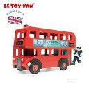 ロンドンバス 車 お人形ごっこ ミニチュア 二階建て ままごと 木のおもちゃ レトイバン Le Toy Van レ・トイ・バン 運転手付きロンドンバス おもちゃ 木製 イギリス