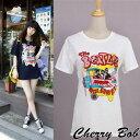 ポップイラストプリントTシャツビートルズカラフルサマーレディース14ss(全2色) 値下げSALE 05P03Sep16