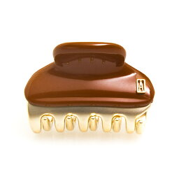 アレクサンドル ドゥ パリ ALEXANDRE DE PARIS ヘアクリップ(スモールサイズ) カフェブラウン×ゴールド PINCES VENDOME VENDOME CLIP S [ヴァンドームクリップ] ICC45-14339-02 4.5cm H CAFE