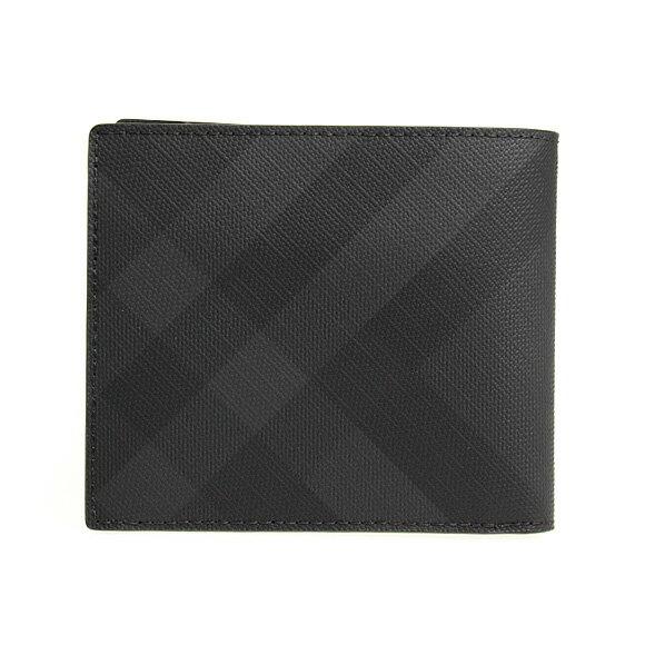 バーバリーBURBERRY財布メンズ二つ折り財布ダークチャコール/ロンドンチェックCCBILLCOIN80144841KCO:110269A5656DARKCHARCOAL【英国】