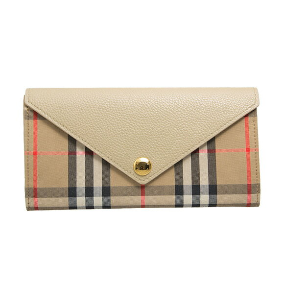 BURBERRY(バーバリー)『Vintage Check and Leather Continental Wallet(80261111)』