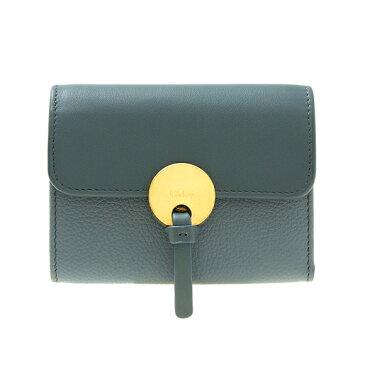 クロエ CHLOE 財布 レディース 三つ折り財布 ミニ財布 INDY COMPACT WALLET [インディー] クラウディブルー CHC17SP853 / 3P0853 H8J 41H CLOUDY BLUE