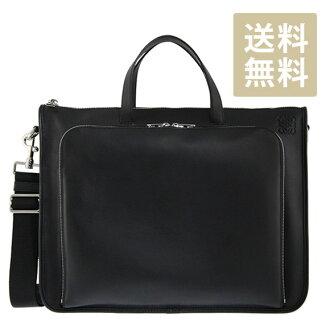 Loewe LOEWE bag TOLEDO WIDE BRIEFCASE Briefcase Toledo men's Briefcase black 358 29 L19 1100 BLACK
