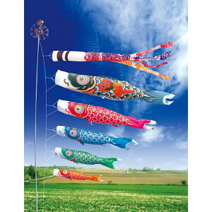 [Koinobori] Large Nishiki Dragon Set 3m 7-piece set [Tokunaga Carp Streamer]