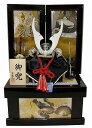 [エントリーでポイント+5倍!] 五月人形 収納飾り シルバー貫前8合兜