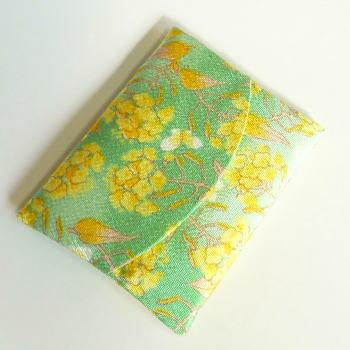 房総菜の花染ティッシュケース(グリーン/パープル/ブルー/ピンク)