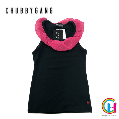 【アウトレット】CHUBBY GANG 襟レース付きタンクトップ No.134【あす楽対応】(チャビーギャング 子供服 女の子 インナー フリル 暖か)