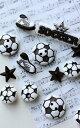 【JJボタンシリーズ】サッカーオーナメント《ボタンセット》サッカー/ボール/スパイク/ボタンセ...