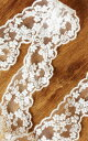 【ナチュラル】【チュールレース】《ハンドメイド資材》 幅4.0cm かわいい花模様フリルレース...