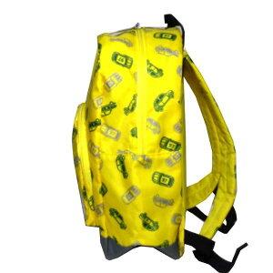 リュックサックBdeRビーデアール車プリント子供服キッズ男児用男の子1974-10518黄色イエロー
