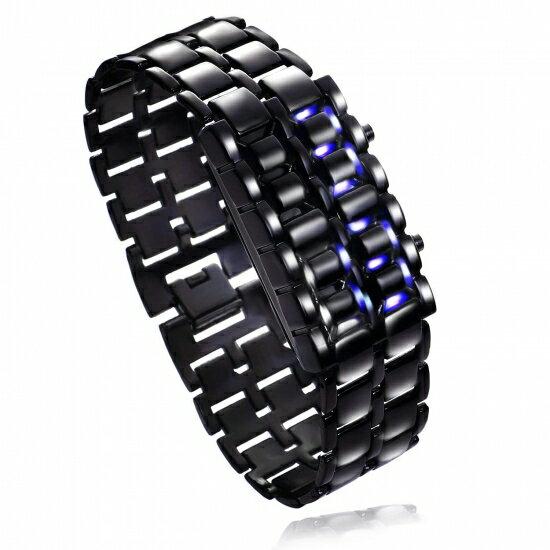 【5000円以上購入で1点1円】時計 メンズ レディース 腕時計 デジタル カッコイイ ブルーライトLED 電池セット済 男女兼用 (Black)