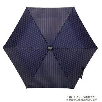 【雨傘】【waterfront】親骨55cmポケフラット55ストライプ紳士折りたたみ傘【HGOST-3F55-UH-6】
