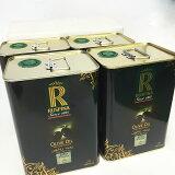 【ケース売り&送料無料】チュニジア産 徳用エキストラヴァージン・オリーブオイル3L缶×4個セット・ルスピナ チュニジア産Extra Virgin Olive Oil Ruspina 3L x 4cans (Tunisia)(海外 業務用 卸売 手作り化粧品