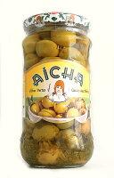 モロッコ産グリーンオリーブ(種有)ハーブ&ガーリック入り370g(内容量220g)GreenOlivewithHerbs/OlivesVertesCasseeauxHerbes(Aicha,Morocco)(